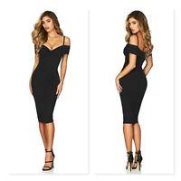 NOOKIE | Womens Black Pheonix Midi Dress NEW + TAGS [ Size M or AU 10 / US 6 ]