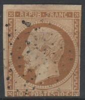 """FRANCE STAMP N° 9 a """" LOUIS-NAPOLEON 10c  BISTRE - BRUN """" OBLITERE A VOIR K574"""