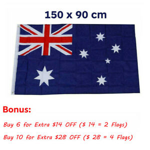🔥Large Australian Aussie Flag Australia Day OZ Heavy Duty Outdoor 150cm x 90cm
