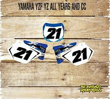 Yamaha YZ YZF 85 125 250 450 número de jabalíes gráficos Kit de Pegatinas-Calcomanías-fondo