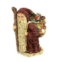 Vtg June McKenna Christmas Ornament Santa Long Beard Artist Hand Signed 1985
