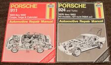 2 Haynes 1976 - 1982 Porsche 924 & Turbo & 911 1965-1989 Repair Manuals