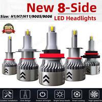 CSP 8-Sides H1/H7/H11/9005/9006 300W 48000LM LED Headlight Bulb Fog Light Xenon