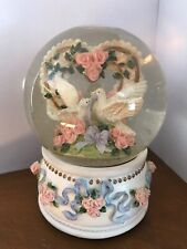Musical Snow Globe with Love. Birds, plays Love Story