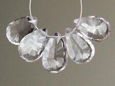 AAA Pink Amethyst Concave Convex Pear Briolette Semi Precious Gemstone Beads
