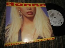 """DONNA SUMMER When love cries/What is it you want 7"""" 1991 WB GERMANY GERMAN"""