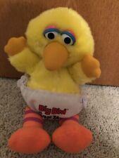 HASBRO SOFTIES VINTAGE 12 INCH BABY BIG BIRD PLUSH - SESAME STREET - WASHABLE