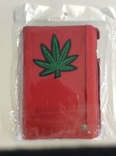 Apple Mini Ipad Case Cover Red with Pot Leaf