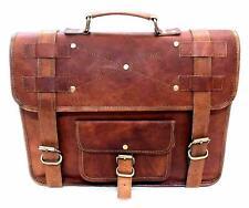 Shoulder Laptop Briefcase New softer Goat Leather Vintage Brown Messenger