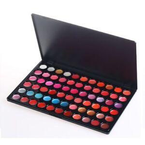 66 Colour Lip Gloss Palette Makeup Set Cosmetic Lipstick Beauty Case Lipgloss