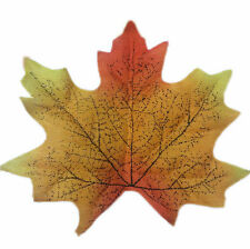 50pcs Maple Fall Autumn Leaves Short Stems/Foliage Wedding Favour Decor Craft NE