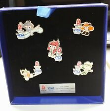 2008 BEIJING MASCOT VISA CHINA WORLDWIDE PARTNER OLYMPIC PIN SET
