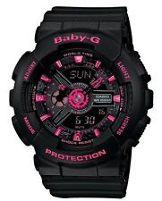 Casio Baby-G * BA111-1A Anadigi Black with Neon Pink Watch COD PayPal