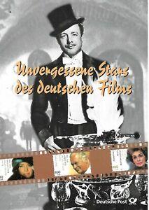 DEUTSCHLAND (GERMANY)- 2000 - MOVIE STARS - COMPLET SET ON PHILATELIC CARD-2IMAG