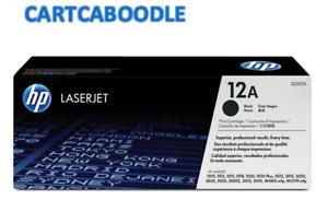 Genuine HP 12A Q2612A BLACK Toner - for HP Laserjet 1015 / 1020 / 3030 / 3055