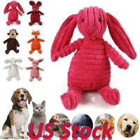 Pet Dog Squeaky Chew Toy Plush Aggressive Chewers Durable Toys Teeth Cleaning