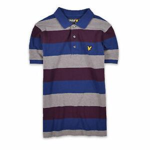 Lyle & Scott Herren Polo Poloshirt Shirt Classic Gr.M (wie S) Gestreift 108709