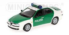 Minichamps 430120790 Alfa romeo 156 - 1997 - 'police' - 1:43 #neu en OVP #