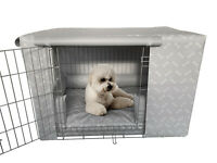 Chew Resistant Waterproof Puppy crate Pad Dog Bed/ Cushion/ Bumper and Cover set