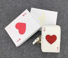 KATE SPADE ACE OF HEARTS Rhinestone Play Card COIN PURSE Change Purse