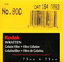 Kodak Wratten Filtro Gelatina 80D Conversión (75mmx75mm)
