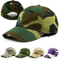 Mens Womens Adjustable Camouflage Cotton Baseball Hat Polo Military Army Cap