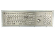 Terminal keyboard Industrial trackball keyboard Kiosk Metal keypad with 103 keys