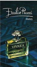 "Publicité Advertising 1975 Parfum ""Vivara"" par Emilio Pucci"