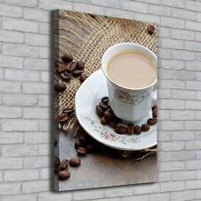 Leinwand-Bild Kunstdruck Hochformat 70x100 Bilder Kaffee und Herz