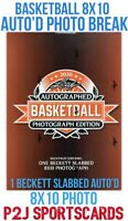 2020 Leaf AUTOGRAPH BASKETBALL 8X10 NBA BOX BREAK 1 RANDOM TEAM Break 4215