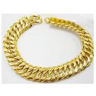Men's Classic 22K 23K 24K THAI BAHT YELLOW Gold Plated Jewelry Bracelet 7 inch