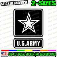 U.S. Army Badge Logo Star Car Truck Window Decal Bumper Sticker Military Vet 990