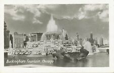 Vintage Postcard 1947 - Buckingham Fountain, Chicago to Finland