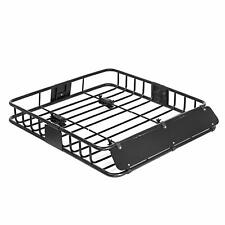 "ROKIOTOEX Universal Roof Rack Cargo Carrier Basket For SUV Sedan 43"" Black"