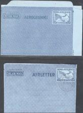 PAPUA & NEW GUINEA, 1954. Aerogramme H&G 1, 2, Mint - Used