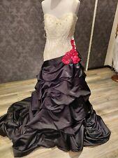 Wunderschönes Brautkleid schwarz/ weiß  *NEU*