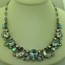 Sorrelli Rainbow Quartz Necklace NDK15ASRQ Antique silver tone