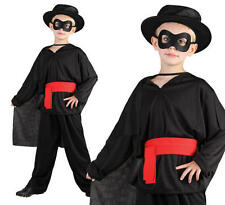 Childrens Kids Bandit Fancy Dress Costume Lone Ranger Zorro Outfit Book Week S