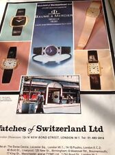 Ephemera 1977 Advert Baume & Mercier Ltd Geneve Watches Of Switzerland M479