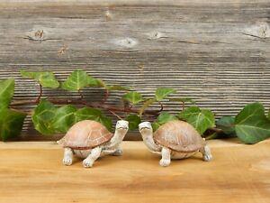 Schildkröte Dekofigur 2er SET Frühling Haus Garten Deko Figur Objekt Geschenk