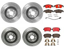 Front Rear Brembo Xtra Brake Kit Drilled Disc Rotors Ceramic Pads For Audi S4 S5