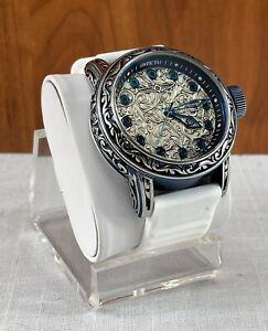 Invicta 20546 Excalibur Swiss Quartz 52MM White Silicone Band Wristwatch