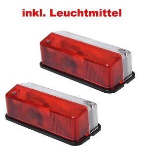 2x Anhänger Umrissleuchte Positionsleuchte Begrenzungsleuchte Rot / Weiß