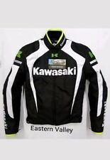 New Mens Kawasaki Motorcycle Racing Biker 100%Cowhide Leather Jacket Custom Made