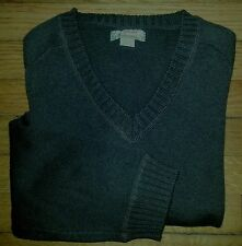 Tommy Bahama Sweater V-neck M Dk Green Cotton c620