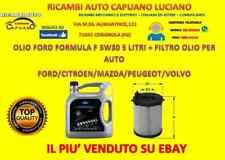 OLIO MOTORE FORD FORMULA F 5W-30 5 L. + FILTRO OLIO FORD/CITROEN/PEUGEOT/MADZA