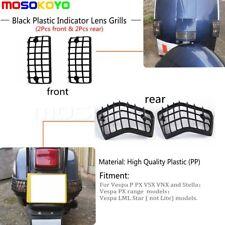 For Vespa P PX VSX VNX LML Indicator Lens Grills Turn Signal Light Cover Black
