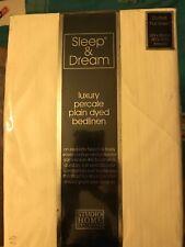 Sleep and Dream Luxury Percale Double Flat Sheet 229 X 254 cm White Ivory
