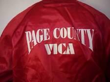 Vintage 80s Shiny Red Macgyver Freak VICA Page County Virginia BASEBALL Parka XL