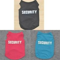 Small Dog Cat Vest Security Puppy T-Shirt Coat Pet Clothes Summer Apparel us
